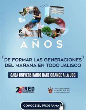 Cartel para promocionar el 25 aniversario de la Red Universitaria