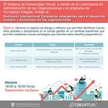 Cartel informativo - Conferencia: Hábitos saludables del talento humano en tiempos de crisis